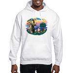 St Francis #2/ Aus Shep (merle) Hooded Sweatshirt