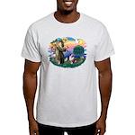 St Francis #2/ Aus Shep (merle) Light T-Shirt