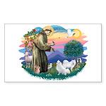 St Francis #2/ Am Eskimo (2) Sticker (Rectangle)