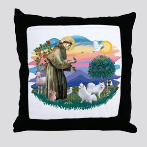 St Francis #2/ Am Eskimo (2) Throw Pillow