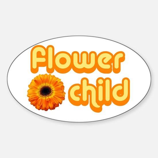 Flower Child Sticker (Oval)