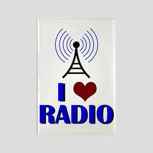 I Love Radio Rectangle Magnet