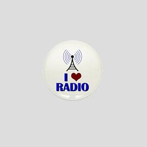 I Love Radio Mini Button
