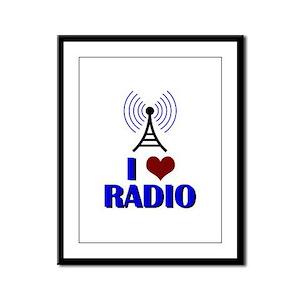 I Love Radio Framed Panel Print