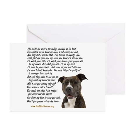 Only Thing, Pit Bull - Greeting Cards (Pk of 10)