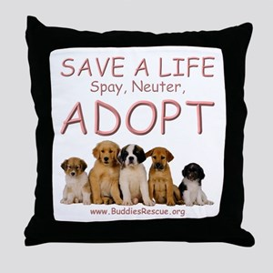 Spay Neuter Adopt - Throw Pillow