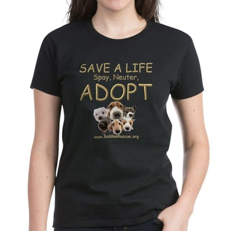 Spay Neuter Adopt - Women's Dark T-Shirt