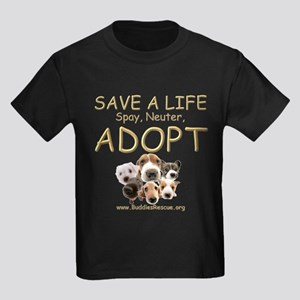 Spay Neuter Adopt - Kids Dark T-Shirt