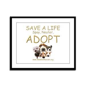 Spay Neuter Adopt - Framed Panel Print