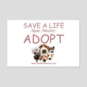 Spay Neuter Adopt - Mini Poster Print