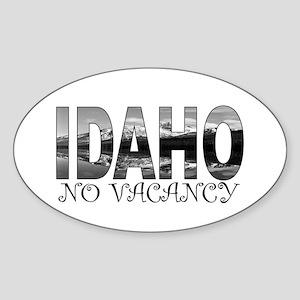 No Vacancy Sticker (Oval)