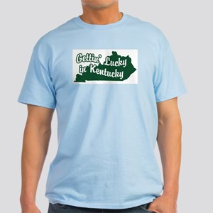 Gettin' Lucky in Kentucky Light T-Shirt