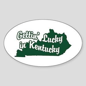 Gettin' Lucky in Kentucky Oval Sticker