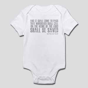 Call on Jesus and be saved Infant Bodysuit