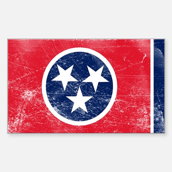 Vintage TN State Flag Sticker (Rectangle)