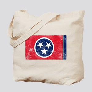 Vintage TN State Flag Tote Bag