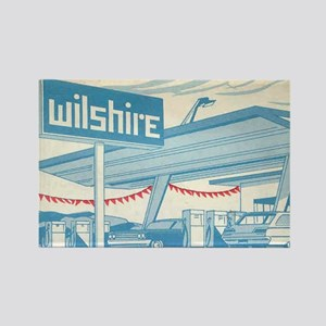 Rectangle Wilshire Gas Station Magnet