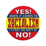 """From the Party of No! 3.5"""" Button (100 pack)"""