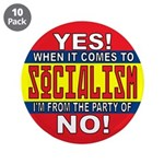 """From the Party of No! 3.5"""" Button (10 pack)"""