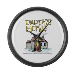 Daddy's Home Yellow Ribbon Large Wall Clock