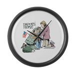 Daddy's Home! Large Wall Clock
