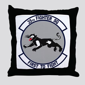 35th Fighter Squadron Throw Pillow