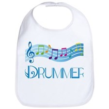 Colorful Music Drummer Bib