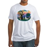 St Francis #2/ Amer Eskimo (K) Fitted T-Shirt