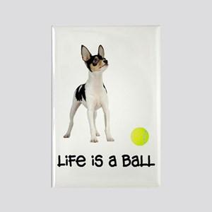Toy Fox Terrier Life Rectangle Magnet