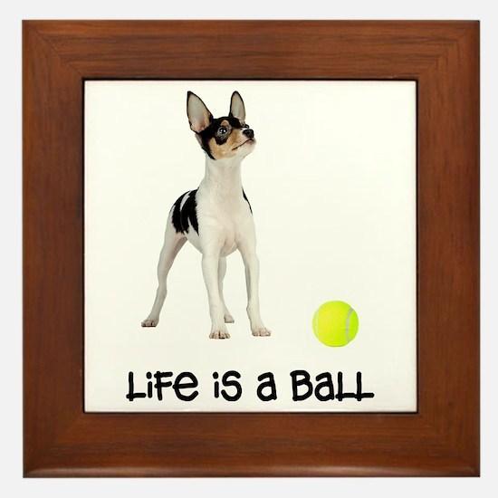 Toy Fox Terrier Life Framed Tile