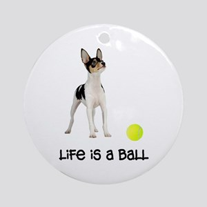 Toy Fox Terrier Life Ornament (Round)
