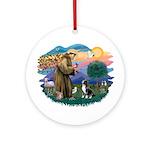 St Francis #2/ Amer Staff. Ornament (Round)