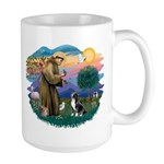 St Francis #2/ Amer Staff. Large Mug