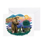 St Francis #2/ Amer Staff. Greeting Cards (Pk of 1