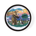 St Francis #2/ Amer Staff. Wall Clock
