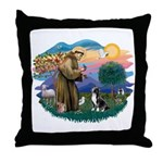 St Francis #2/ Amer Staff. Throw Pillow