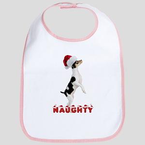 Naughty Toy Fox Terrier Bib