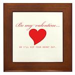 Anti-Valentine Framed Tile