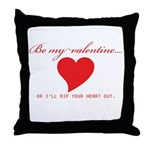 Anti-Valentine Throw Pillow