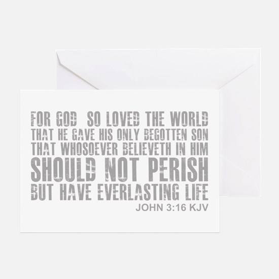 John 3:16 Greeting Card