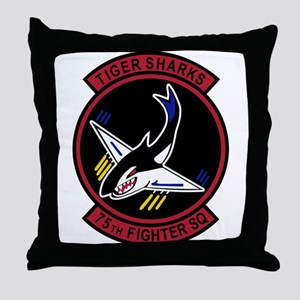 75th Fighter Squadron Throw Pillow