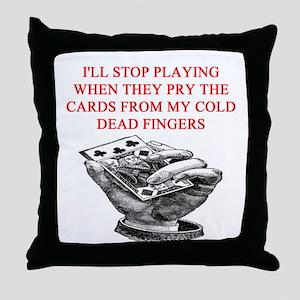 duplicate bridge player joke Throw Pillow