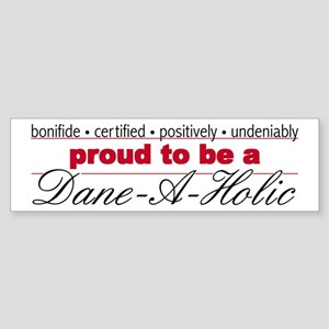 Great Dane-A-Holic Sticker (Bumper)