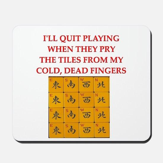 mahjong player joke Mousepad