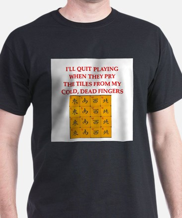 mahjong player joke T-Shirt