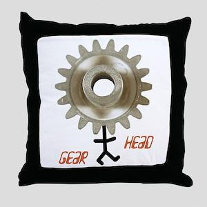 gear head Throw Pillow