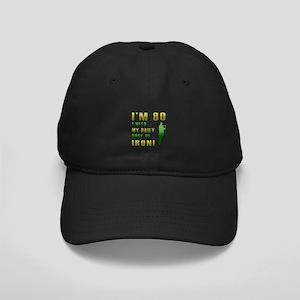 80th Birthday Golf Humor Black Cap