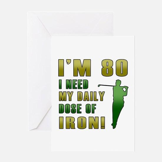 80th Birthday Golf Humor Greeting Card