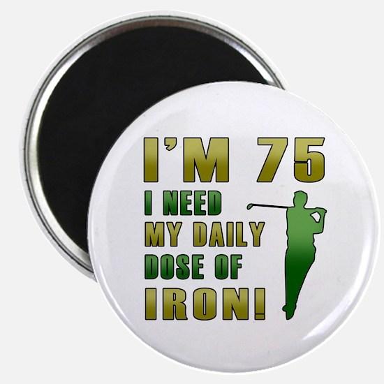 75th Birthday Golf Humor Magnet