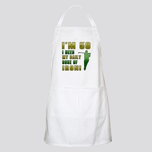 50th Birthday Golf Humor Apron